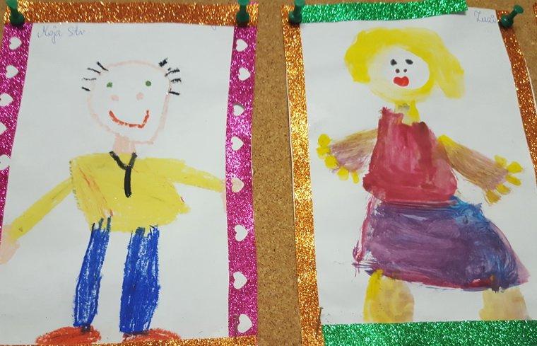 Dzień Babci i Dziadka. Portrety wykonane przez wnuczków.