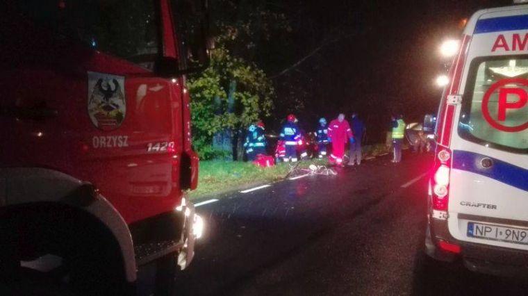 Śmiertelny wypadek w Okartowie. Nie żyje kobieta potrącona przez samochód.