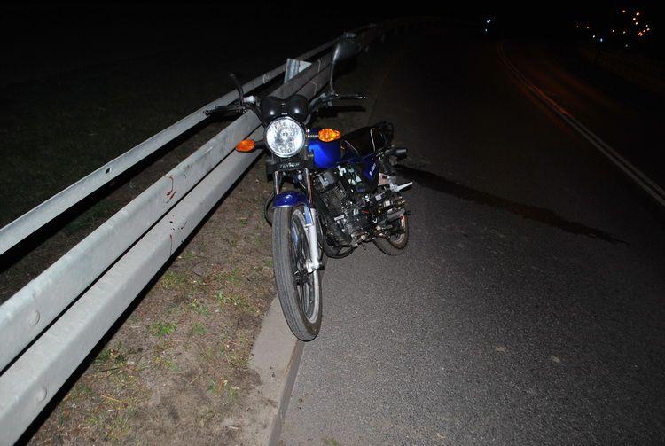 Kolejny wypadek z udziałem motocyklistów. Dwie osoby ranne.