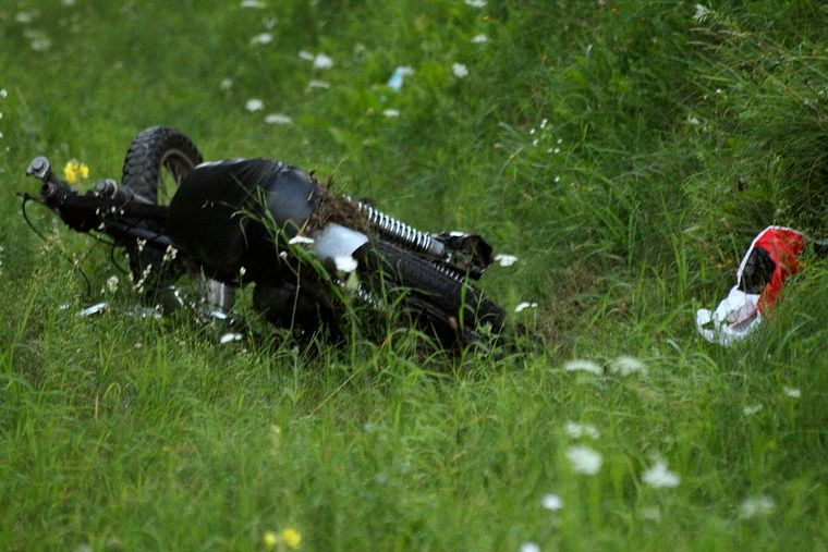 Wypadek na trasie Pisz - Orzysz. Ranny motocyklista przebywa w szpitalu.