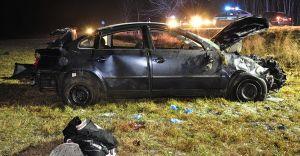 Pisz-Orzysz: Zderzenie osobówki z ciężarówką